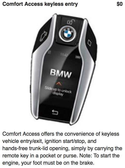 Comfort Access Keyless Entry For 0