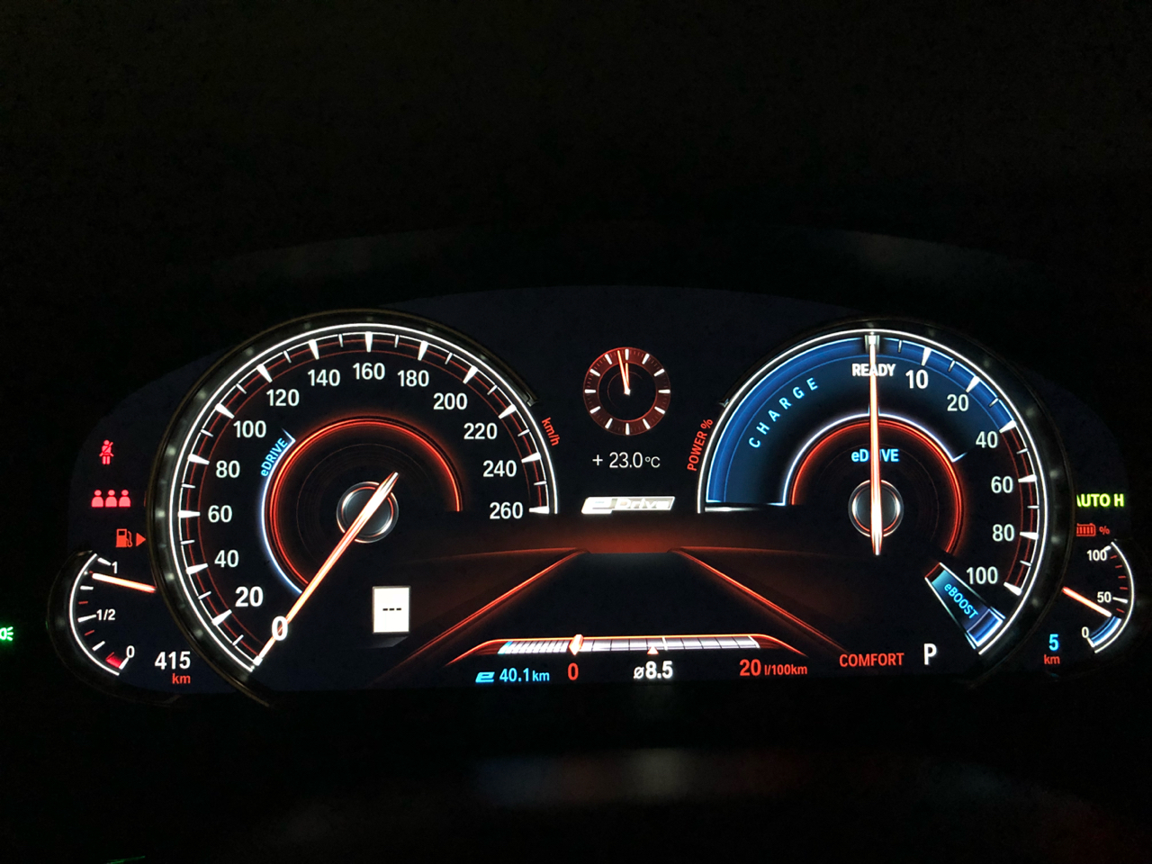Can The Instrument Cluster Show Rpms In 530e