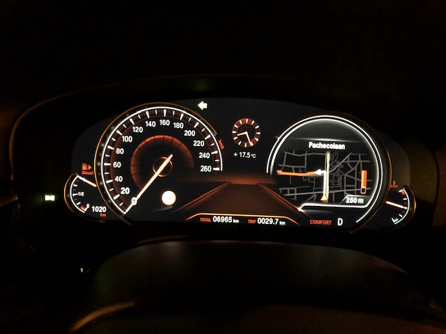 Head Up Display Off And Navigation On The Rev Counter Cauge
